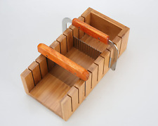 Soap Making Mold Loaf Baking Wooden Box Cutter Slicer Tool Set Wavy Straight