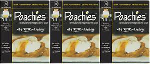 Poachies Egg Poaching Bags - 3 Packs of 20 (60 Bags)