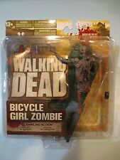 Walking Dead Series 2 Bicycle Girl Zombie NEW MISP Mint Fresh Original McFarlane