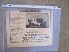 Trail - It Land & Water Marine Cruiser Boat Full Page Ad Old Houseboat Mobile  U