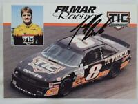 Vintage NASCAR Filmar Racing TIC Financial 8 Jeff Burton Signed Promo Card MINT