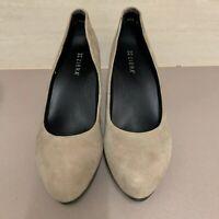 Ziera Ladies Suede Shoes Pumps Size 43, Au 11-11.5 Beige Free Postage