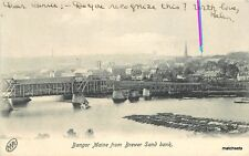 1908 Bangor Maine Brewer Sand Bank undivided postcard 7341