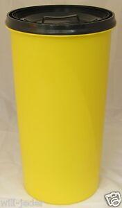 Gelber Sack Ständer gelb mit Deckel anthrazit Müllständer Mülleimer  60 L