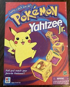 Yahtzee Jr Pokémon 1999 Hasbro Milton Bradley Kids Dice Board 100% Complete Game