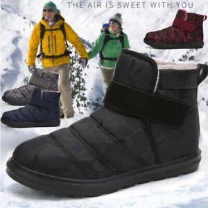 MEN WOMENS Winter Warm Fur Lined Snow Boots Ankle Bootie Waterproof Couple Size