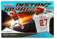 2020 PANINI PRIZM MIKE TROUT INSTANT IMPACT Teal Wave  Prizm   PARALLEL