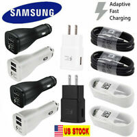 New Samsung Galaxy Note 8 S10 S8 S9 Fast Car Charger Type-C Cable Black White