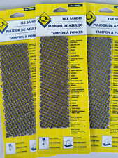 """Wall and Tile Chafing Sander Sheets x 3 Unique Abrasive Grit DIY 7 x 2.5"""""""