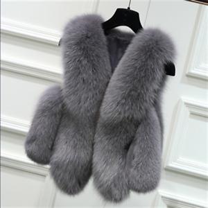Womens Chic Faux Fur Sleeveless Gilet Winter Warm Short Waistcoat Fashion Jacket