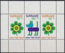 Suriname 1973 ** Bl.13 Kinderzeichnungen Child's Drawings [st0710]