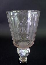 - 26cm grosser Glaspokal - 1717 - Vivat Maximilian Emanuel