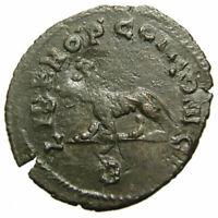 Gallienus Æ Antoninianus (267-268 AD), Panther - strike error