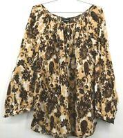 Lane Bryant Womens Shirt Long Sleeve Cotton U Neck Button Up Size 18/20W