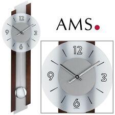 AMS 39 quartz Horloge Murale NOYER PEINTE du salon moderne à pendule 001
