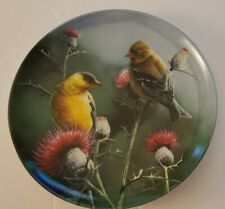 Vintage Edwin M Knowles Birds of Your Garden Gold Finch Plate Kevin Daniel 1987