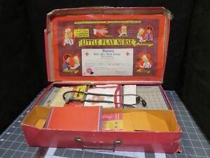 Vintage 1945 Medical Kit Little Play Nurse Transogram Play Set