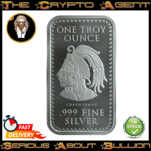Aztec 1oz Silver Bullion Bar