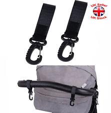 2 x PRAM HOOKS Clips For Buggy Pram Pushchair Stroller Diaper Shopping Bag