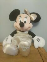 Disney Store 2013 Minnie Mouse In Gold Dress Plush Soft Toy Approx 16inch