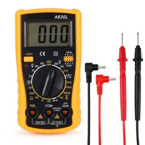 Digital Multimeter LCD AC/DC Ammeter Resistance Capacitance Tester