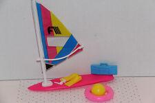 Barbie Seaside Fun Wind Surf Sail Board Play Set Mattel #7340 1988 Accessory