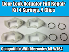 Door Lock Actuator Repair Full Kit Pour Mercedes ML W164 partie x4 springs x4 Clips