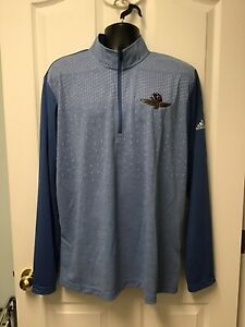 Adidas Indianapolis Motor Speedway Mens 1/4 Zip Pullover Heather Blue Medium 699