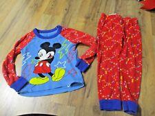 Mickey Mouse & Friends Blue Red 2 Piece Pajama Pj Set Boys Size 3