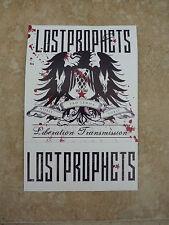 "Lost Prophets Liberation Transmission RARE Luggage 4.5"" Sticker PROMO"