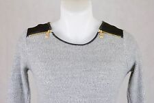 Jersey para mujer de manga larga, Color gris, Talla 34