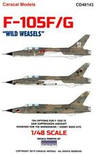 Caracal Decals 1/48 Republic F-105F/G Thunderchief Wild Weasels Sam Suppression