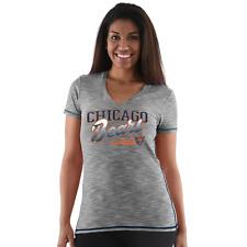 Chicago Bears NFL Women's Short Sleeve Black V-Neck T-Shirt, Size Large, NWT
