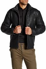 NWT Cole Haan Faux Shearling Genuine Leather Coat Moto Mens Jacket L Large $695