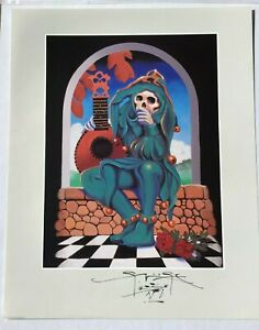 """SIGNED By STANLEY MOUSE """"JESTER-1977"""" RARE COLOR ART PRINT KELLEY/MOUSE"""