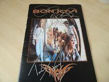 More details for signed bon jovi world tour concert programme