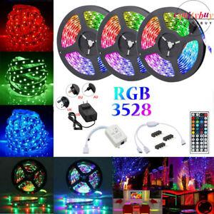 15m 50ft LED Strip Lights RGB 3528 Remote Room Car+1 to 2 4Pin Splitter AU Plug