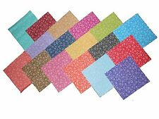 "34 5"" Quilting Fabric Squares Bright ""POPPY"" Tonals BUY NOW-17 different-2 each"