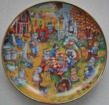 Franklin Mint A Purrfect Thanksgiving Feast Cat Plate