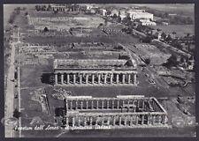 SALERNO CAPACCIO 04 PAESTUM - VEDUTA AEREA Cartolina FOTOGRAFICA viaggiata 1960