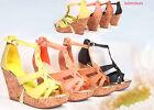Fashion Zipper Strappy Open Toe Wedge Platform Sandal Shoes Size 5.5 - 11 NEW