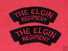 THE ELGIN REGIMENT CANADA Cloth Shoulder Flashes