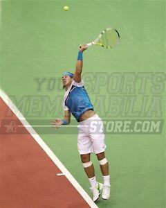 Rafael Nadal jump serve clay court serve  8x10 11x14 16x20 photo 738