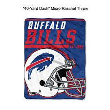 "NFL Buffalo Bills 40-Yard Dash Micro Raschel Throw Blanket 40"" x 60"""