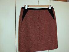 david lawrence geometric herringbone  print skirt