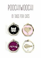 Quality Silver Personalised Engraved Pet Cat ID Collar Tags Discs FREE DELIVERY