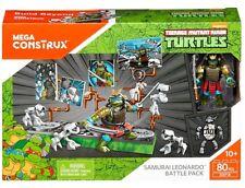 Teenage Mutant Ninja Turtles Mega Construx Samurai Leonardo Battle Pack DXF18
