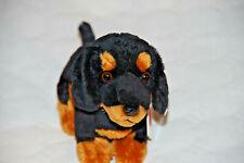 Dackel sitzend schwarz-braun 19 cm Plüschtier von Teddy Hermann 919445