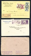 3 Indian Covers with Senders Address on Front (233)
