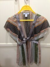 Charlotte Russe Summer Airy BoHo  Floral Embellished Woman's Top Size Medium